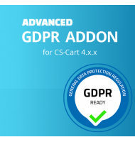 Advanced GDPR Addon για CS-Cart