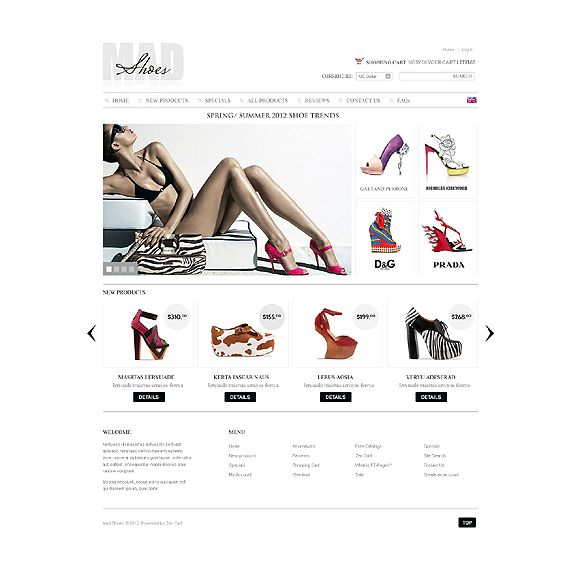 Mad Shoes CS-Cart Template