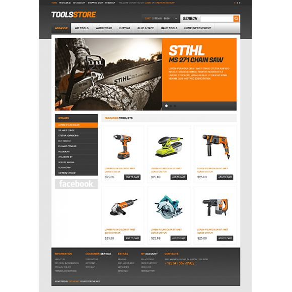 Stihl CS-Cart Templates