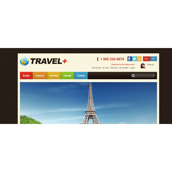 Travel Plus CS-Cart Template
