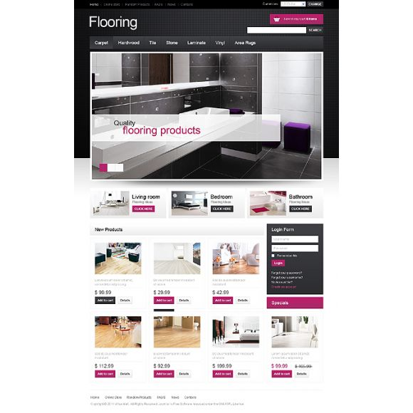 Flooring CS-Cart Template