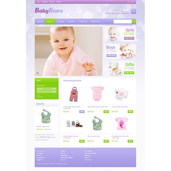 Baby Store CS-Cart Template