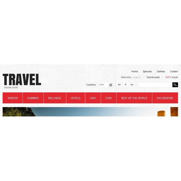 Tavel strore CS-Cart Template