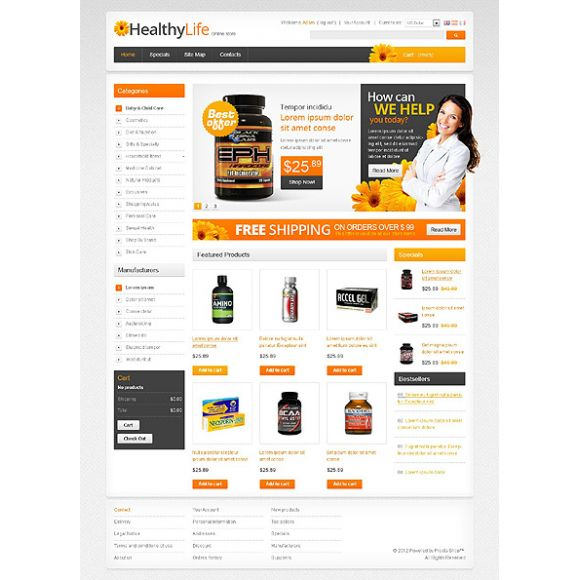 Healthy CS-Cart Template