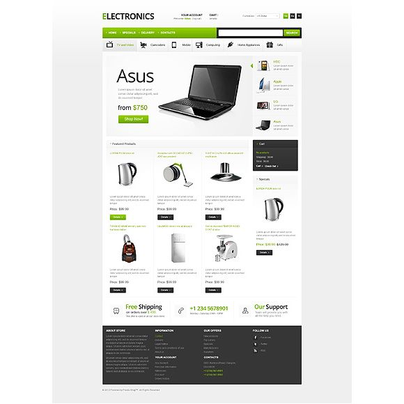 Asus CS-Cart Template
