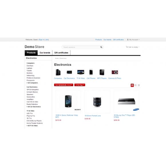 Amazon Mega Menu for CS-Cart