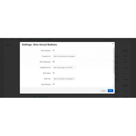 Nice Social Buttons for CS-Cart 4.x