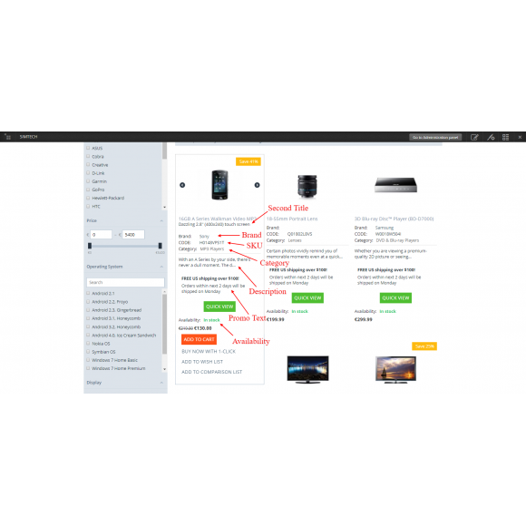 New Grid Layout με επιλογες εμφάνισης
